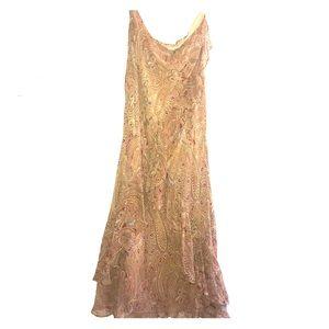 Vintage Ralph Lauren Ruffle Skirt, Paisley Design